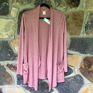NEW Pink long sleeve lightweight  cardigan sweater